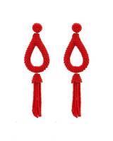 red statement earrings