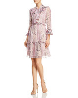 """Kobi Halperin """"Andrea"""" Ruffle Silk Dress"""