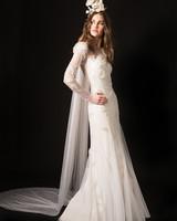 temperley long sleeve floral applique wedding dress spring 2020