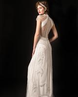 temperley beaded short sleeve sheath wedding dress spring 2020