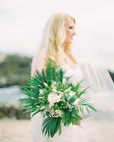 Areca Palm Filler tropical leaf bouquet