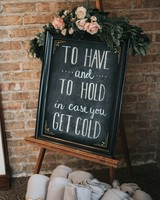 wedding blanket sign