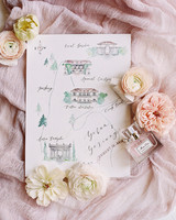 yiran yexiang wedding map stationary suite
