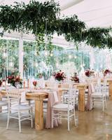 yolana douglas wedding reception space and tables