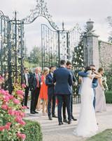 guests on patio of Powerscourt Estate & Gardens