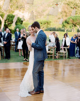 alex drew california wedding couple first dance outdoor dance floor