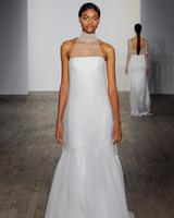 allison webb wedding dress illusion polka dot sheer sheath