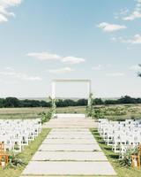 amanda chuck wedding ceremony outdoors