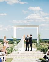 amanda chuck wedding ceremony bride and groom