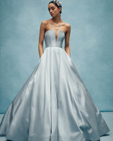 anne barge strapless blue ball gown wedding dress spring 2020
