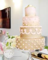 Marie Antoinette-inspired bridal shower cake