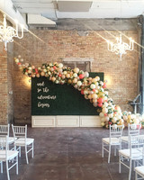 wedding reception backdrop balloons