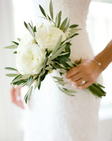 White and Green Beach Wedding Bouquet