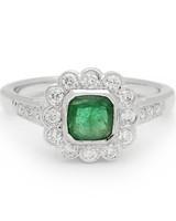Beverly K. Emerald Engagement Ring
