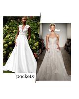 fall 2019 bridal fashion week trends pockets