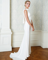 Cristina Ottaviano wedding dress spring 2019 high neck sheath
