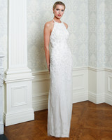 Cristina Ottaviano wedding dress spring 2019 floral beaded sheath