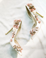 dawn rich wedding floral shoes