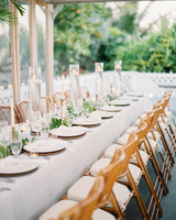 wedding reception table with place settings