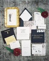 fun and formal wedding stationery