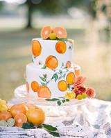 orange painted cake