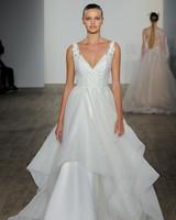 haley paige fall 2019 v-neck vertical ruffles wedding dress