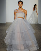 haley paige fall 2019 tulle strapless separates wedding dress