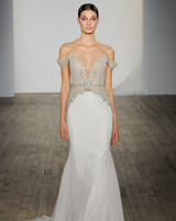 haley paige fall 2019 off the shoulder trumpet beaded wedding dress