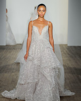 haley paige fall 2019 spaghetti strap v-neck sheath wedding dress