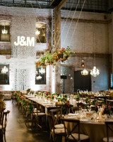head table hanging flowers long boxes