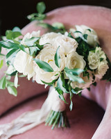 white, pale pink, and dusty rose floral bouquet