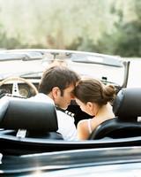 kseniya sadhir wedding couple in car sweet moment