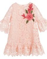 pink lace flower girl dress Tamarine