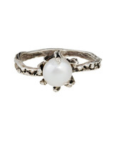 Lauren Wolf Pearl Engagement Ring