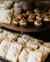 wedding desserts cupcakes and homemade pop tarts