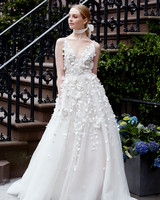 lela rose wedding dress spring 2019 v-neck tulle with applique