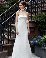 lela rose wedding dress spring 2019 strapless a-line back bow accent