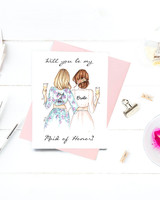 maid of honor proposal personalized card