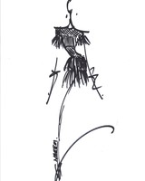 Naeem Khan Dress Sketch