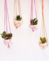 neon wedding macrame hangers