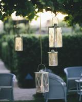 lanterns hanging from trees