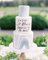 quotes at weddings calligraphy french cake