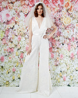 randi rahm wedding dress spring 2019 v-neck wide-leg jumpsuit