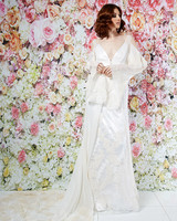 randi rahm wedding dress spring 2019 embroidered sheath sheer sleeves