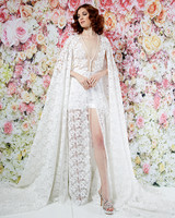 randi rahm wedding dress spring 2019 shorts sheer lace overlay separates