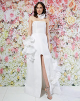 randi rahm wedding dress spring 2019 strapless a-line ruffle detail