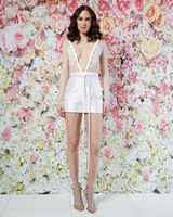 randi rahm wedding dress spring 2019 mini skirt sheer top separates