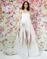 randi rahm wedding dress spring 2019 strapless a-line applique florals