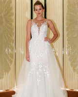 randy fenoli wedding dress floral applique illusion a-line