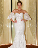 randy fenoli wedding dress sweetheart embellished trumpet with separate bell sleeves